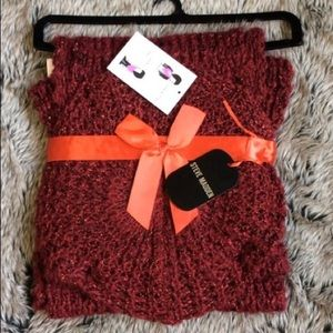 Steve Madden chunky wool beret and infinity scarf